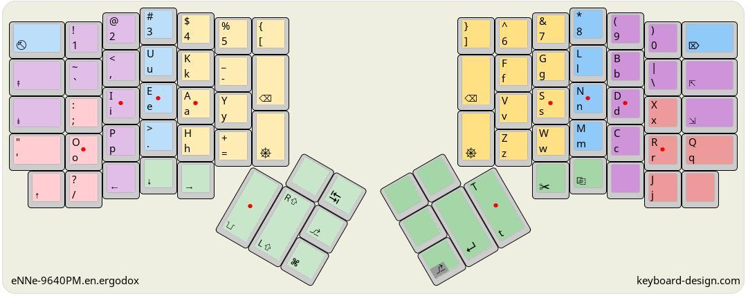 KLE keyboard-design.com diagram of ENNE-9640PM